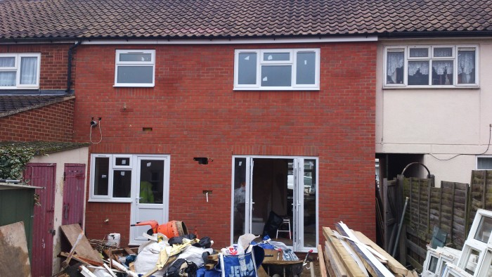 Wates with new french doors -  new french doors
